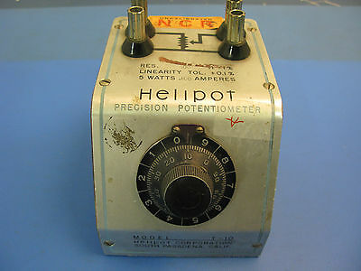 Helipot Precision Potentiometer Model T-10