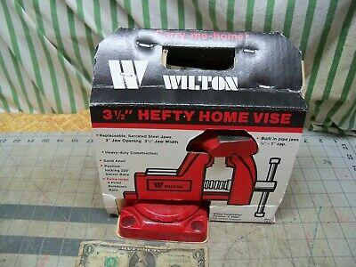 Vintage Wilton Home Vise 535 3.5 Jaws Open 3 Swivel Base Anvil Pipe Nos