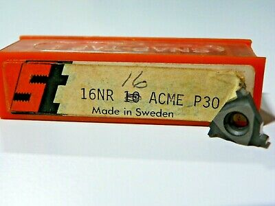 10 Pieces Snap Tap 16nr 16acme P30 Carbide Inserts  F493