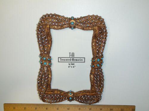 "Ganz Treasured Memories Ornate Frame 4"" X 6"" Glass Cover - Very Nice"