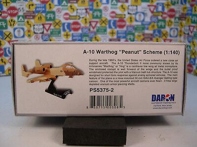 U.S. AIR FORCE A10 WARTHOG PEANUT DARON 1:140 SCALE DIECAST DISPLAY MODEL ()