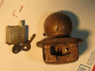 7 Master Lock Trailer Hitch 2 Ball Lock Heavy Duty Vintage