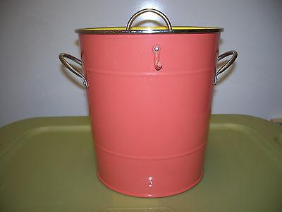 Orange & Yellow Ice Bucket METAL WITH LID](Metal Bucket With Lid)