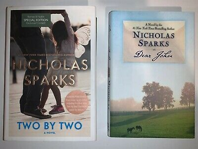 Two by Two & Dear John Nicholas Sparks Hardcover Book Novel Set Lot