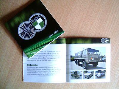 """Steyr-Puch     """"since 1899""""  Haflinger / Pinzgauer  Brochure / Prospekt 2014 !!!"""
