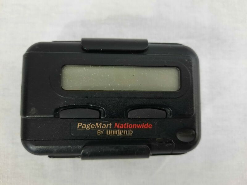 Vintage Uniden Pager With Belt Clip For Parts Or Repair