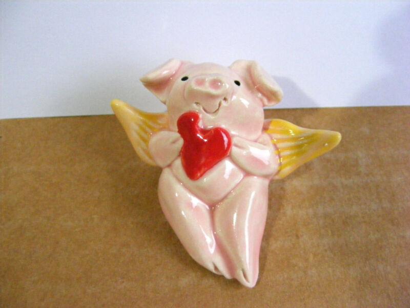 Little Guys Cupid Pig Miniature Animal Figurine Cindy Pacileo Valentine #4