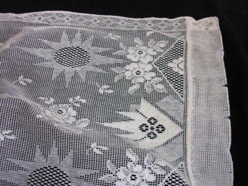 "#G PAIR OF GENUINE ANTIQUE  Lace  Curtain Panels, 36""W X 63"" L"