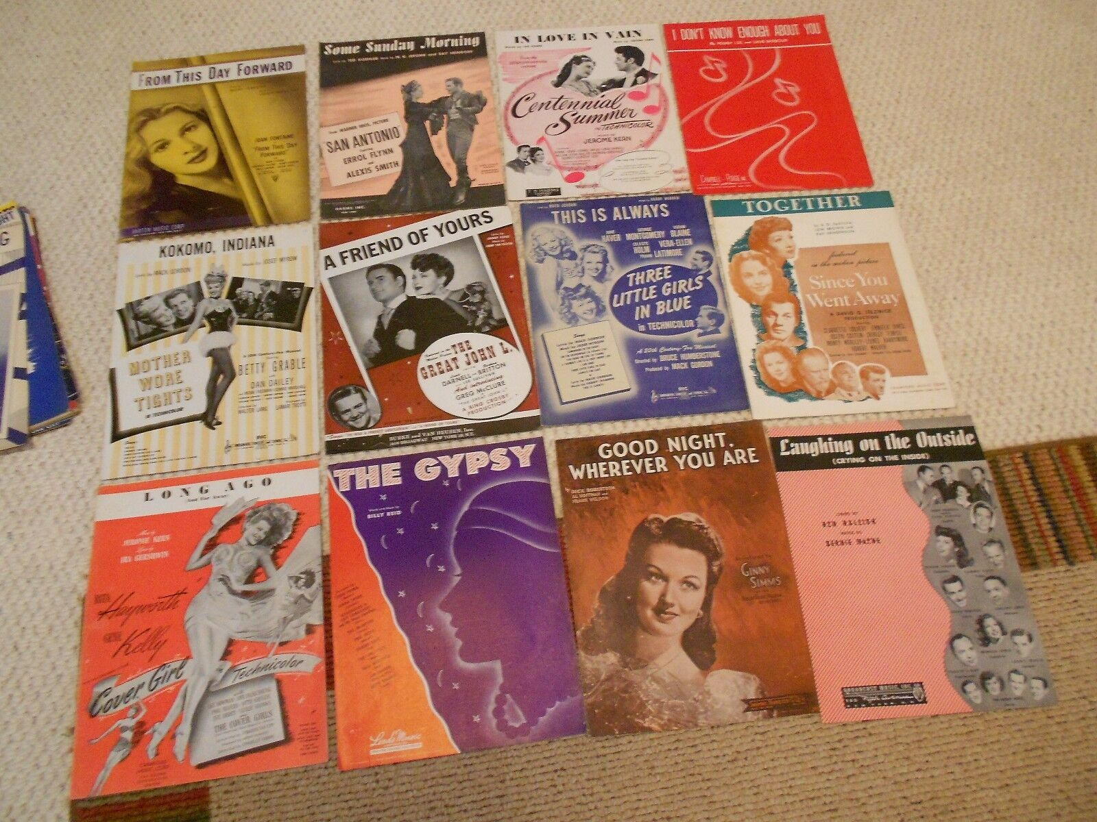33 PIECES Of CLASSIC SHEET MUSIC- 33 PIECES-COMPLETE - $16.99