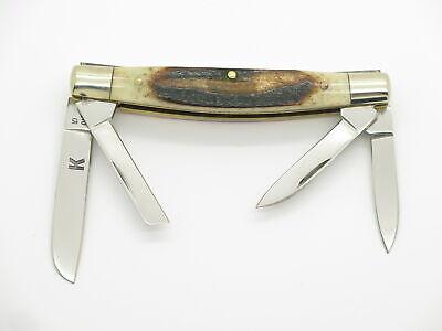 """Vtg Parker Seizo Imai Seki Japan Stag Small 3.125"""" Congress Folding Pocket Knife"""