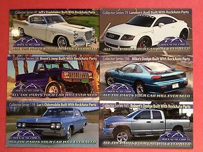 Rockauto Collector Car Magnets   Numbers 47  58  79  106  119  163