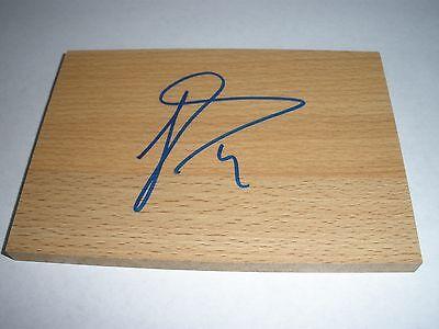 NBA Luis Scola Houston Rockets Signed Autographed Floorboard Auto