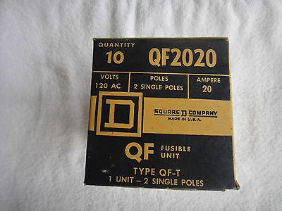 New Square D 20 Amp 120vac Circuit Breaker Box Of 10 Qf2020 Qf-2020