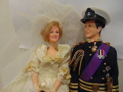 Princess Diana & Prince Charles Vintage Wedding Dolls 1980s   *C8