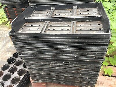 JOBLOT OF 130 SHUTTLE/CARRY TRAYS FOR 6,9,12 CELL PLANT TRAYS, SEEDS,PLANTS ETC