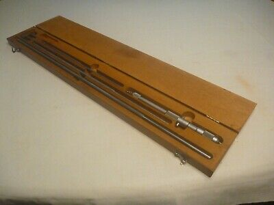Starrett 124-c  8 - 32 I.d. Inside Diameter Micrometer Case Complete