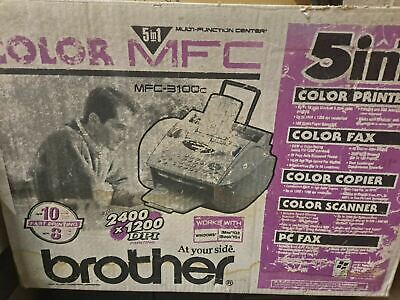 Brother Mfc-3100c Printer Fax Copier Scanner - New Old Stock Open Box