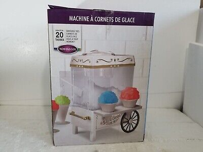 Snow Cone Maker Electric Machine Ice Snow Shaver Crusher Shaved Cart Nostalgia