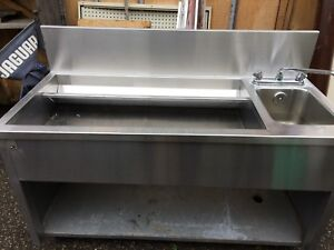 Two tier bar sink and add on counter piece