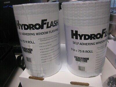 2 Rolls Benjamin Obdyke Hydroflash 9 X 75 - 1 Roll House Wrap Flashing Tape