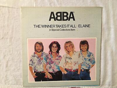 """ABBA The Winner Takes it All Elaine UK gatefold 12"""" pop-up black vinyl single"""