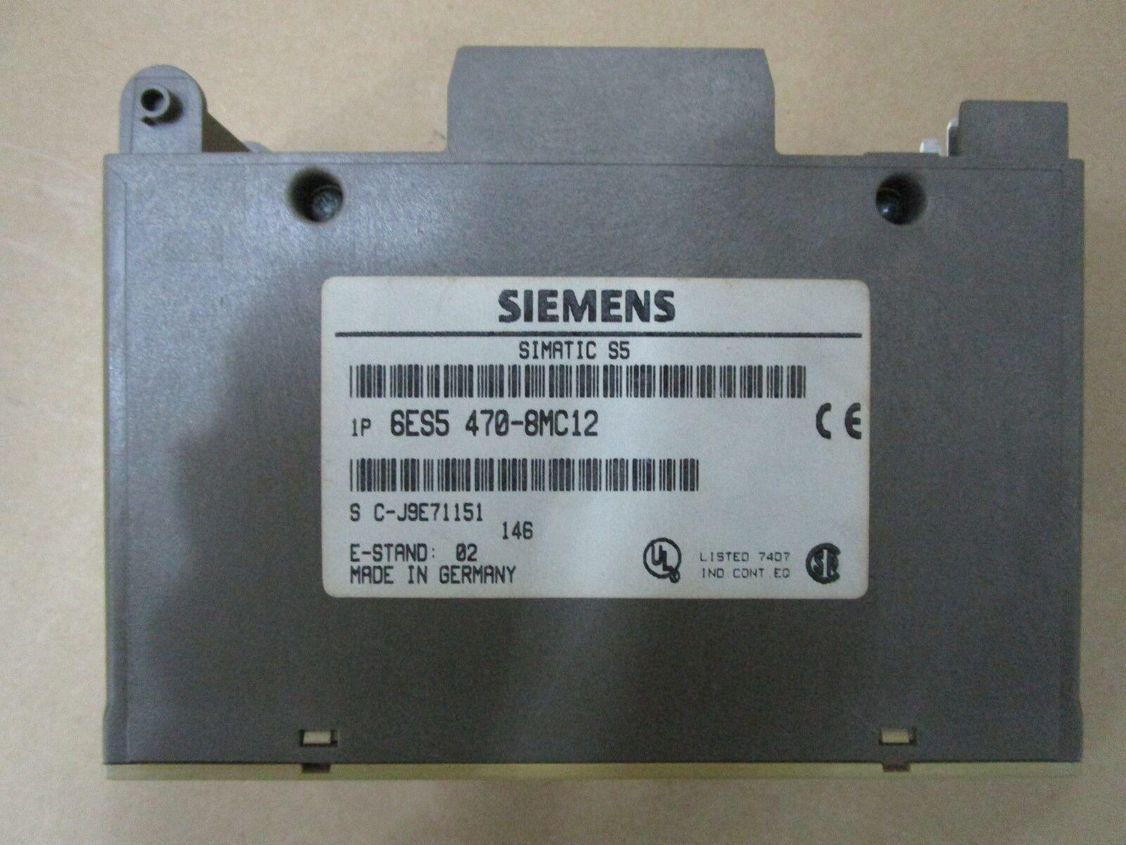 Siemens 6ES5 470-8MC12 S5 6ES5470-8MC12