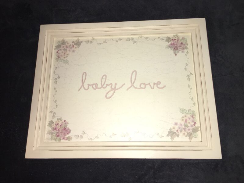 WENDY BELLISSIMO VINTAGE TEABERRY BABY LOVE WALL ART