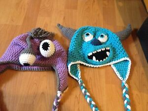 Boo and sulley toques.