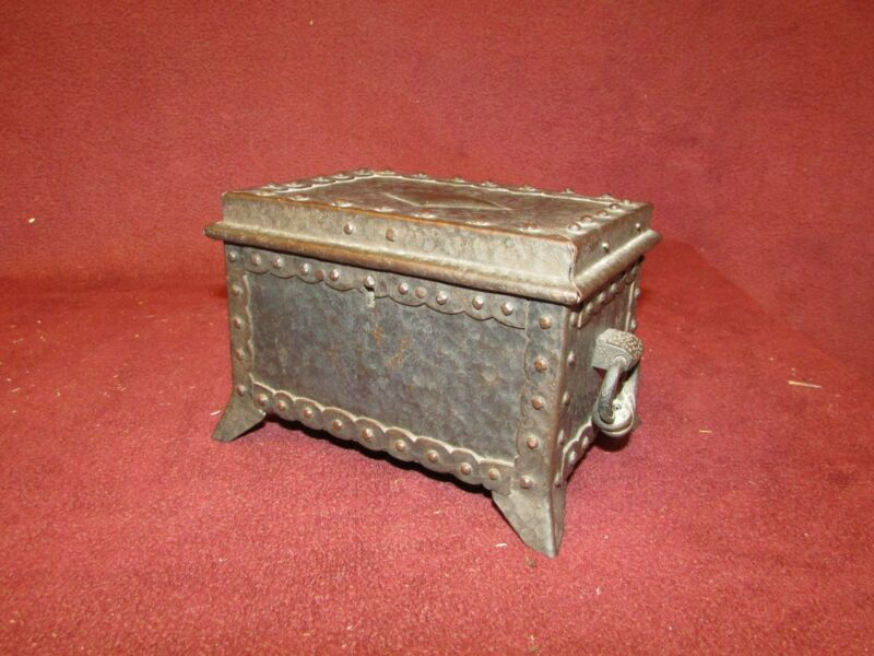 Hand Wrought Iron Arts and Crafts Period Small Box