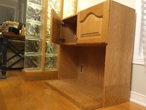Armoire pour micro onde 2 portes