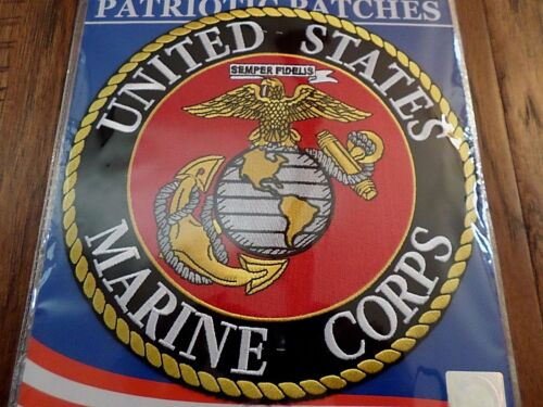 """U.S MILITARY MARINE CORPS EGA OVERSIZE BACK PATCH 10"""" X 10""""  OFFICIALLY LICENSED"""