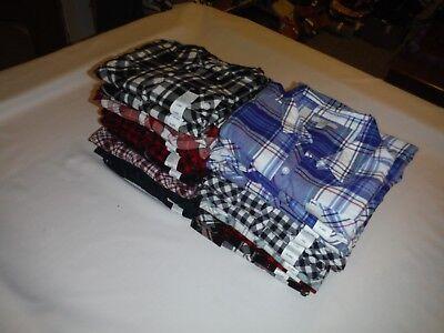 (Long Sleeve Button front Flannel Shirts 2XL,XL,L,Croft & Barrow 100% cotton NWT)