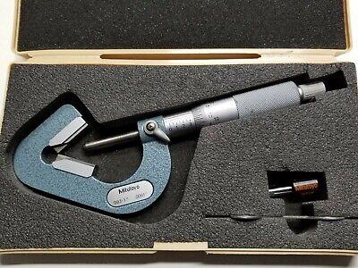 Mitutoyo 114-202 V-anvil Micrometer .093-1.000 Inch 3 Flutes