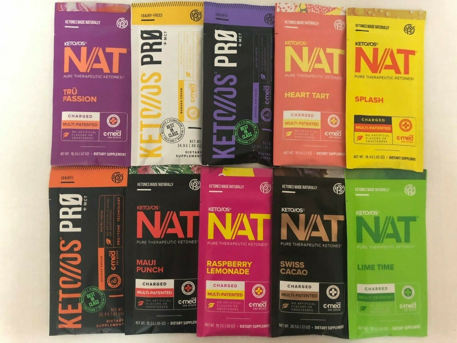 Pruvit Keto OS MAX NAT Ketones Packet 5,10, 20 Days VARIOUS FLAVORSorMixed Packs 8