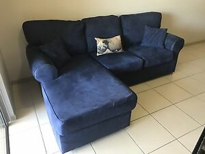 Blue 3 Seater Chaise Sofa Yorkeys Knob Cairns City Preview
