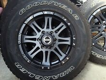 """Csa 17"""" 4x4 alloy rims good year wrangler tyres as new Perth 7300 Northern Midlands Preview"""