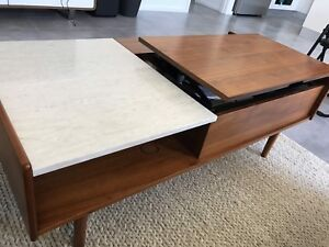 Mid Century Pop Up Storage Coffee Table For Sale Coffee Tables