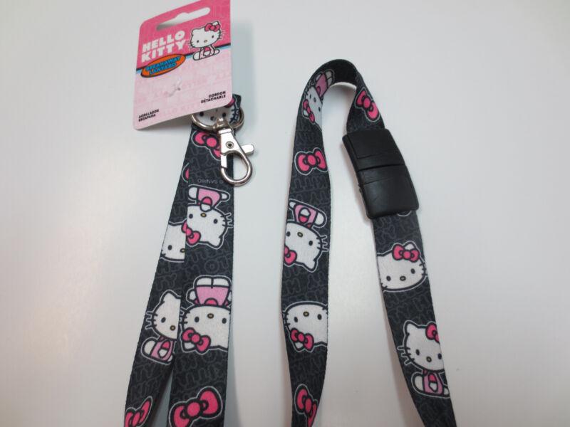 Authentic Sanrio Hello Kitty Breakaway Lanyards / Black Background / New