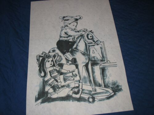 * TRI CHEM 7685 ROCKING DOLLS HORSE Picture to paint TRICHEM