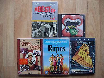 4 DVDs and CD Monty Python's Life of Brian, Rutles, Ripping Yarns Michael Palin