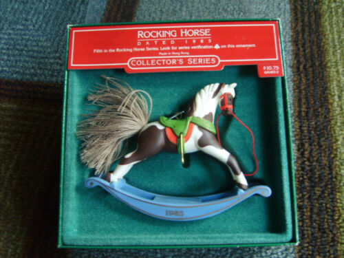 1985 Hallmark Rocking Horse Ornaments No. 5 th In Series