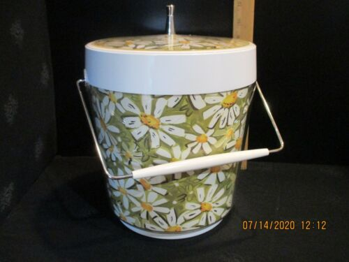 Vintage Thermo Serv Daisy Flower Ice Bucket By West Bend
