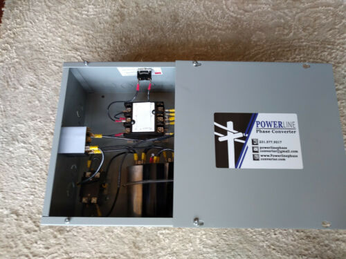 15HP Rotary Phase Converter Panel With Push Button ON/OFF