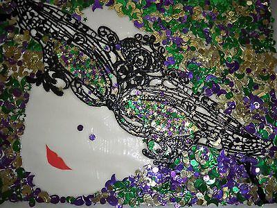 Mardi Gras Masquerade. Original art. Mixed Media Collage. 9