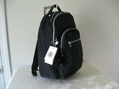 NWT KIPLING SEOUL BLACK NYLON BACKPACK ..Authentic!!!