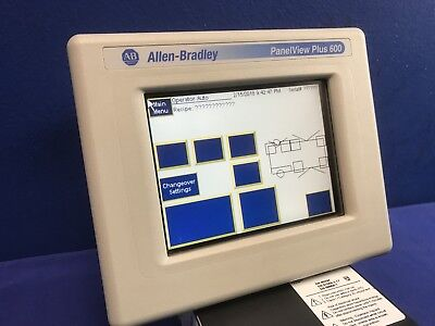 Allen Bradley 2711p-t6c20d Panelview Plus 600 Ser. C