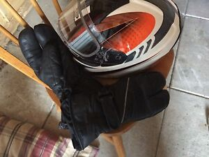 Skidoo helmet and gloves