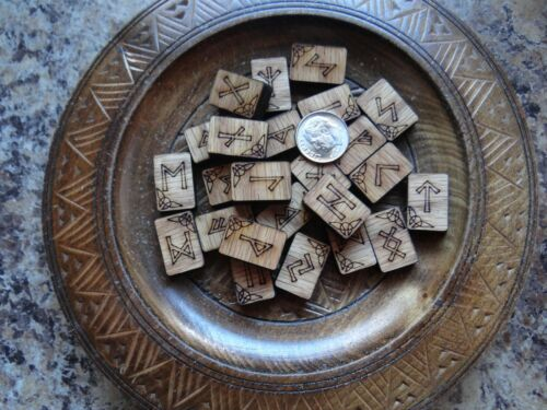 Oak Natural Wood Handcrafted Runes Wiccan Pagan Altar Supply