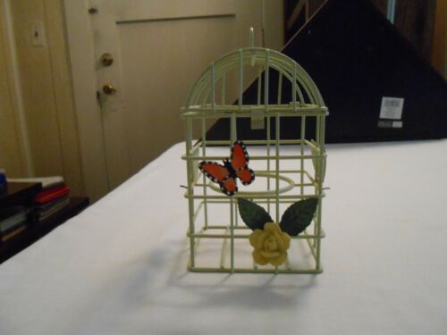 SALE! Green Metal Decorative Bird Cage Collectible/ Rare Find