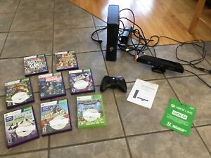 XBox 360 Kinect System, 8 games, XBox Gold Membership (new)